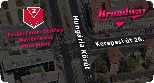 Broadway Dance Center Táncstúdió Budapesten a Stadionok Metrómegállónál