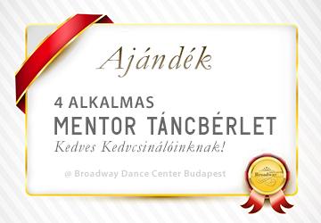 Mentor Tánc Bérlet @ Broadway Dance Center Budapest