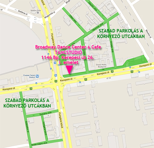 Broadway Dance Center Táncstúdió Budapest Stadionok Parkolás