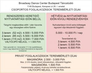 Broadway Dance Center Táncstúdió Táncterem és Rendezvényhelyszín Bérlés